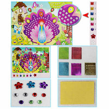 12 Patterns Shining Crystal Mosaics 3D Puzzle EVA Sticker Cute Insect Sticker Kids Children DIY Picture Craft Art Sticker