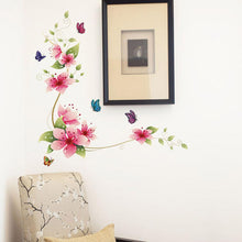 PVC Flower Butterfly Wall Arts Sticker PVC Home Decoration Decal Stickers for Living Room Bedroom Bathroom