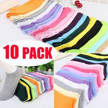 10 Pair Women Candy Color Cotton Socks Soft Summer Anklet Socks Fashion