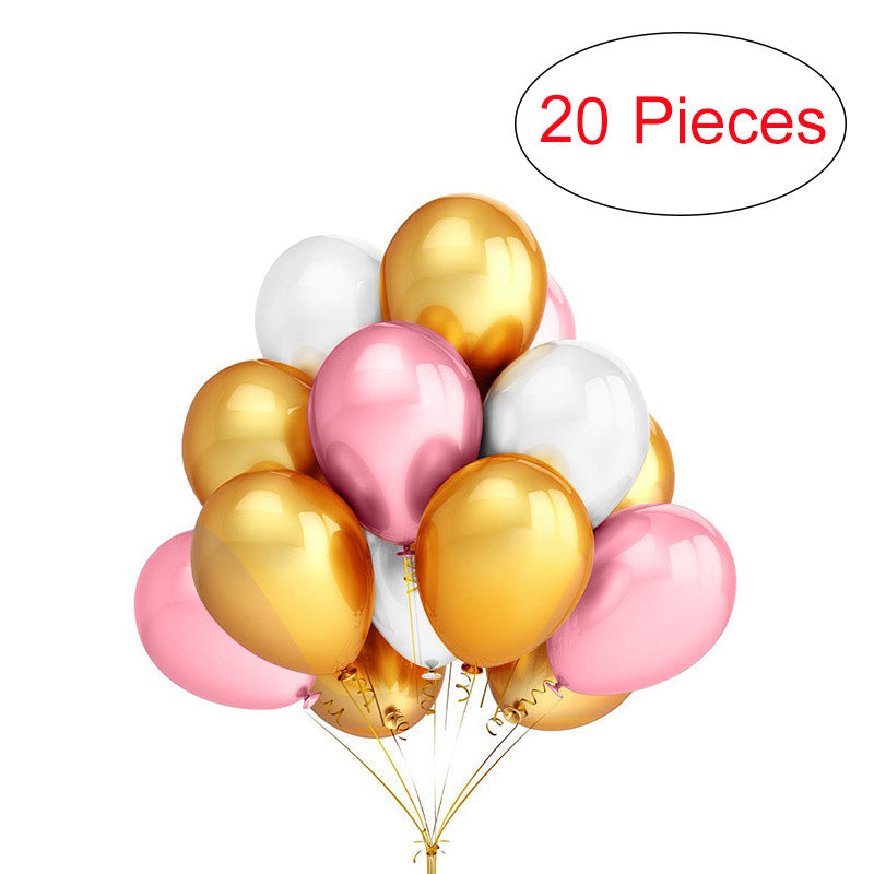 20 Pieces 12 Inch Latex Balloons Birthday Wedding Party decoration Balloons Random Color