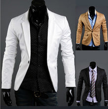 Brief Style Business Attire Slim Suit Jacket Coat One Button For Men