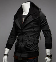 Stylish Color Blocking Design Casual Jacket Coat False Two Pieces Hoodie Hooded For Men