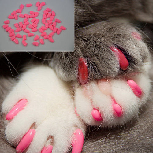 Original S Small Clear Natural Soft Claws Paws Nail Caps for Cats & Dogs C5-10 lbs Dog - Random Color