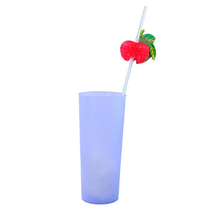 10PCS 3D Fruit Cocktail Drinking Straw Party BBQ Hawaiian Theme Decoration
