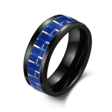 8mm Width Man Cool Ceramic Carbon Fiber Ring Finger Ring Jewelery Ornament