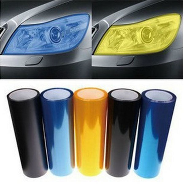 30 cm x 127 cm Auto Car Light Headlight Taillight Tint Film Sticker - 13 colors