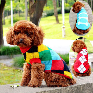 Lovely Puppy Pet Cat Dog Sweater Knitted Coat Apparel Clothes Red Small Medium Size