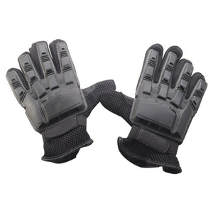 AK Army Full Finger Tactical Gloves for Outdoor Airsoft Paintball Combat - Black (Pair)
