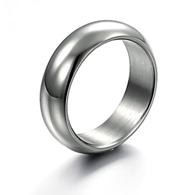 Classic Concise Style Glossy Titanium Steel Man Finger Ring