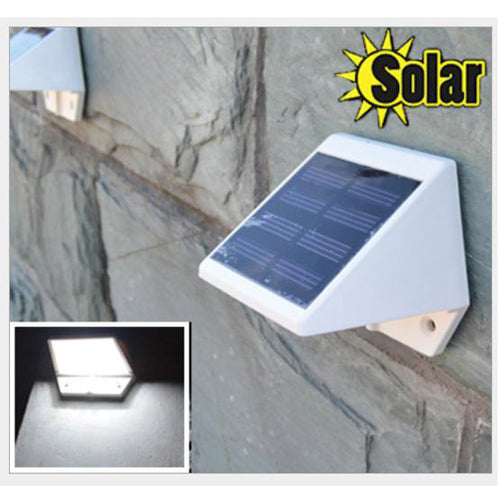 Outdoor Solar Powered 4LED Lights Pathway Up-Stair Wall Mounted Garden Fence Yard Lamp