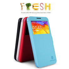 Nillkin New Durable Fresh Leather Flip-up Phone Case Protective Cover Case w/ Visual Window for Samsung Galaxy N7505/GALAXY Note 3 Neo - 4 Colors
