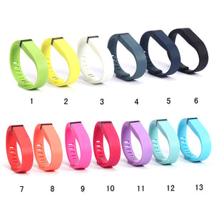 Replacement Rubber Band Wireless Activity Bracelet Wristband For Fitbit Flex With Metal Clasp