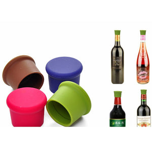 5 PCS/Set Silicone Wine Bottle Stoppers Approved Food Grade Silicone Durable Flexible Wine Bottle Stopper Random Colors