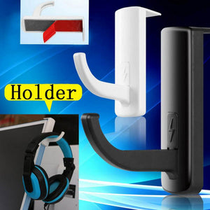 2015 Hot Durable Lightweight Small Headphones Headset Stand Hanger Holder for PC Convenient Computer - Black / White