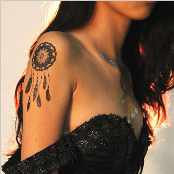 8 Styles of Black Temporary Lace Tattoo Stickers Sexy Body Paint Leg Portion Stockings Fake Flash Tattoo-6.1