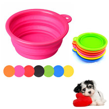 1 Pcs Collapsible Pet Dog Cat Travel Feeding Bowl Portable Silicon Puppy Food Water Bowl Dish - 8 Colors Optional