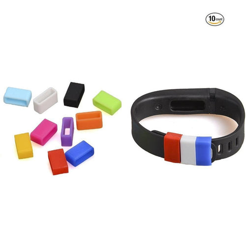 10Pcs/Lot Silicone Fastener Ring for Fitbit Flex Wristband Wrist Band Bracelet- Fix the Clasp Fall Off Problem - Secure Your Wristband in Style