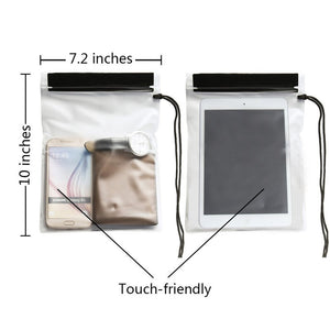 4 Pack Universal Waterproof Case Bag Pouch with Black Edge for Map, iPad, Camera and Mobile Phone Transparent