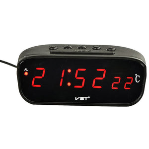 LED Display 12/ 24 Hour Digital Car Clock Thermometer Auto Temperature Gauge Meter Tester Monitor DC 12V-30V