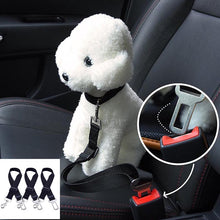 3 Pack Black Dog Seat Belt Pet Car Safety Straps Leads Restraint Harness Adjustable for Cars Vehicle
