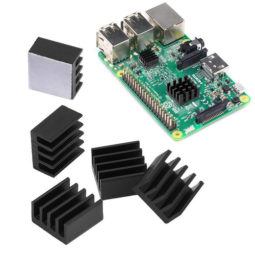 10 Pieces Black Aluminum Heatsink Cooler Cooling Kit for Raspberry Pi 3 Pi 2 Pi Model B+
