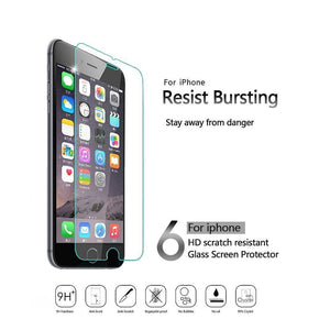 3 Pack Tempered Glass Film Screen Protector Protection with Paste Installation Tool for Apple iPhone 6 Plus/ 6s Plus 5.5 Inch