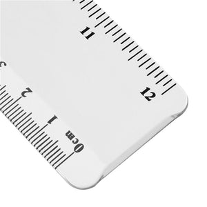 2 Pack Plastic Ruler 12 Inches Clear