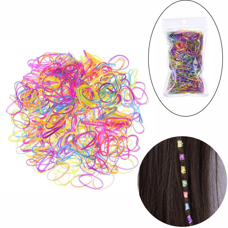 2200 Pieces Colorful Elastic Bands Hair Rubber Bands Hair Ties