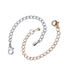 8 Pieces Necklace Bracelet Extender Chain Set Stainless Steel 4 Sizes (Gold, Silver)