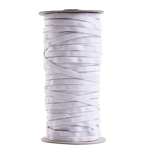 70 Yards 1/ 4 Inch Wide Elastic Rope Elastic Cord Band Braided Elastic Spool White