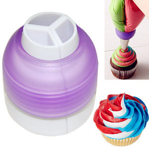 3 Color Coupler Cake Tools Bakeware Cupcake Fondant Cookie Cutters Cream Decorating Bags Converter Cake Tools Random Color