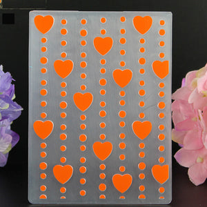 Various Flower Love Heart Butterfly Pattern Plastic Embossing Mold Folder DIY Craft Scrapbooking Decoration Album Card Making Tools