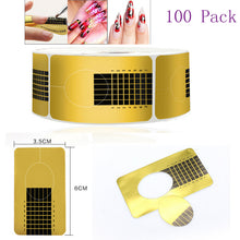 100pcs Nail Art Form Sticker Self-adhesive Extension Guide Acrylic Tips Gel