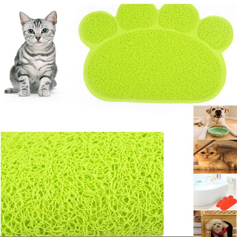 Paw Shape Pets Feet Mat Placemat PVC Radiating Dog Cats Sleeping Feeding Pads 30x40 cm