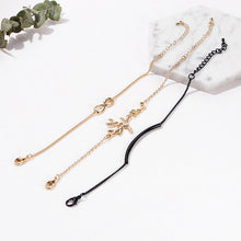 3Pcs Fashion Simple Infinite Tree  Anklet Bracelets for Women Girl