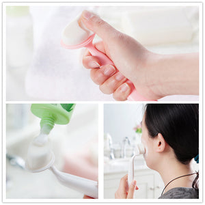 1pcs Facial Cleansing Brush Face Wash Brush Deep Cleaning Brush Soft Bristle Julep Exfoliating Brush Pore Cleaner Skin Care Beauty Tool