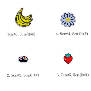 Fashion Accessories 20 Pcs/Set Mix Fruit Patch Cartoon Patches For Children Clothes Jeans Sticker