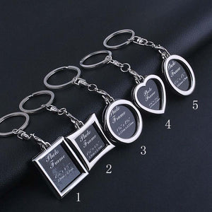 1 Pcs Metal Material Insert Photo Picture Frame Key Ring Key Chain