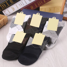 1 Pair New Rhombus Style Winter Men Socks Casual Autumn Winter Keep Warm Socks For Men One Size Color Random