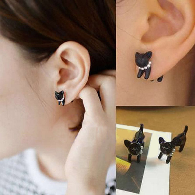 1 Pair Fashion Women Jewelry Cat Style Stud Earring Girls Earrings