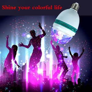 Flashing Colorful 3W RGB Led Bulb Self Rotating KTV Party Stage Lamp Color Random (AC90-250V)
