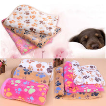 Pet Gadgets Cute Dog Paw Style Winter Warm Coral Fleece Carpet For Dog Cat Animal Warm Pad 40*60cm
