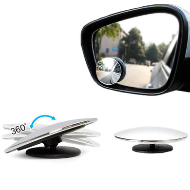 1 Pair 360 Adjustable Car Blind Spot Mirror Driving Assistant Mirror Small Round Mirror Wide Angle Mirror