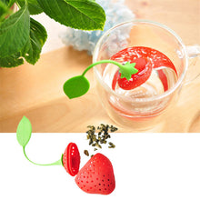 2 Pcs/Set Creative Strawberry Style Tea Filter Silicone Material Tea Bag Tea Strainer Infuser