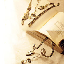 2 Pcs/Set Metal Mermaid Genius Butterfly Style Book Mark Book Marker Vintage Page Holder