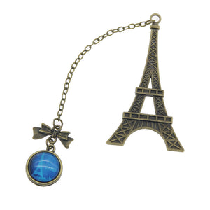 Cute Eiffel Towel Style Book Marker Metal Bookmark Page Holder