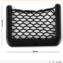 Car Net Bag Car Organizer Nets  Automotive Pockets With Adhesive Visor Car Syling Bag Storage for tools Mobile phone(Color: Black)
