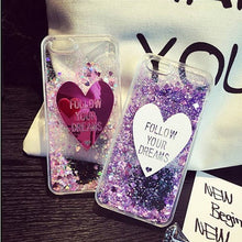 New Creative Fashion Dynamic Glitter Quicksand Hourglass Clear Case Cover For Iphone 6/6Plus Iphone7/7Plus