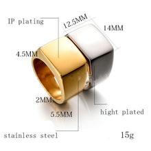 Fashion Luxury Men Rings Stainless Steel Fashion Men Jewelry Chain Ring For Men Women Wedding Male Gift