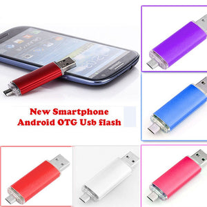 New OTG USB Pendrive External USB Stick Micro USB Flash Pen Thumb  Drive 8GB Memoria USB for Phone PC